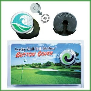 "Golf Ball Marker Button Cover (3/4"" Domed Metal Marker)"